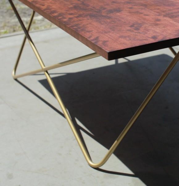 coffee table brass